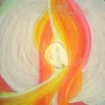 Bohyně Živa, A4 pastel, cena 555,-Kč